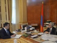 PRESIDENT OF ARMENIA DISCUSSED WITH THE MINISTER OF CULTURE NEW INITIATIVES OF THE MINISTRY