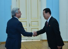THE NEWLY APPOINTED AMBASSADOR OF KOREA TO ARMENIA PRESENTED HIS CREDENTIALS TO THE PRESIDENT