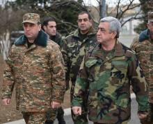 Նախագահ Սերժ Սարգսյանն Արցախում այցելել է Պաշտպանության բանակի մի շարք զորամասեր