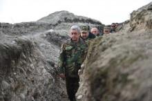 ՀՀ եվ ԼՂՀ նախագահներն այցելել են Մատաղիսի եվ Թալիշի շրջակայքում գտնվող պաշտպանական դիրքեր
