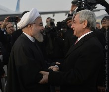 PRESIDENT OF IRAN HASSAN ROUHANI HAS ARRIVED TO ARMENIA ON OFFICIAL VISIT