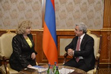 PRESIDENT SERZH SARGSYAN RECEIVED THE RF COMMISSIONER FOR HUMAN RIGHTS TATYANA MOSKALKOVA
