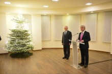 PRESIDENT PARTICIPATED AT THE NEW YEAR AND HOLY CHRISTMAS RECEPTION AT THE MINISTRY OF FOREIGN AFFAIRS