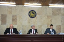 PRESIDENT SERZH SARGSYAN PARTICIPATED AT THE YSU BOARD OF TRUSTEES END-OF-THE-YEAR MEETING