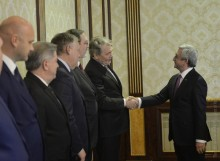 PRESIDENT SERZH SARGSYAN RECEIVED DELEGATION OF THE RF STATE DUMA