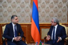 PRESIDENT SERZH SARGSYAN RECEIVED THE CHAIRMAN OF THE BOARD OF THE EURASIAN ECONOMIC AREA TIGRAN SARKISSIAN
