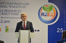 PRESIDENT SERZH SARGSYAN WAS PRESENT AT THE SOLAR ENERGY INVESTMENT CONFERENCE