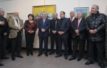 Galust Sahakyan Attends Opening of Exhibition of Aragats Akhoyan's Works