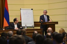 STUDENTS OF THE RPA ANDRANIK MARGARIAN POLITICAL SCHOOL HOSTED THE PRESIDENT