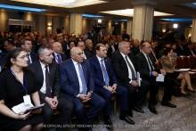 Мэр Тарон Маргарян принял участие в церемонии открытия общего собрания членов Союза общин Армении