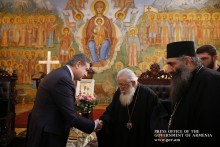 Karen Karapetyan Hosted by Catholicos-Patriarch of All Georgia Ilia II