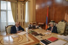 MINISTER DAVID LOKIAN REPORTED TO PRESIDENT SERZH SARGSYAN ON THE PRIORITIES OF THE MINISTRY AGENDA