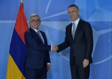 MEETING BETWEEN PRESIDENT SERZH SARGSYAN AND NATO SECRETARY GENERAL JENS STOLTENBERG COMMENCED IN BRUSSELS