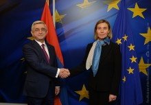 PRESIDENT SARGSYAN IN BRUSSELS MET WITH THE HIGH REPRESENTATIVE OF THE EU, VICE-PRESIDENT OF THE EUROPEAN COMMISSION FEDERICA MOGHERINI