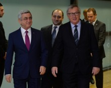 SERZH SARGSYAN MET WITH THE PRESIDENT OF THE EUROPEAN COMMISSION JEAN-CLAUDE JUNCKER
