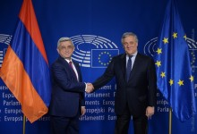 SERZH SARGSYAN MET WITH THE PRESIDENT OF THE EUROPEAN PARLIAMENT ANTONIO TAJANI