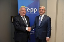 PRESIDENT SERZH SARGSYAN MET WITH THE PRESIDENT OF THE EPP JOSEPH DAUL