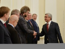 PRESIDENT RECEIVED THE PARTICIPANTS OF THE YEREVAN MEETING OF THE VALDAI CLUB