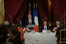 IN HONOR OF PRESIDENT SERZH SARGSYAN THE PRESIDENT OF FRANCE GAVE OFFICIAL RECEPTION