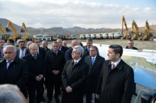 IN ARARAT MARZ PRESIDENT WAS PRESENT AT THE GROUNDBREAKING CEREMONY FOR THE VEDI RESERVOIR