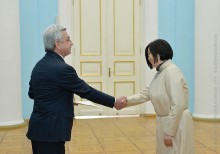 AMBASSADOR OF MONGOLIA PRESENTED HER CREDENTIALS TO PRESIDENT SERZH SARGSYAN