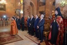 PRESIDENT SERZH SARGSYAN ATTENDED CANDLELIGHT DIVINE LITURGY