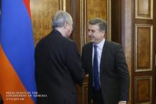 Премьер-министр с руководителем миссии МВФ в Армении обсудил вопросы, касающиеся развития экономики и дальнейших программ Правительства