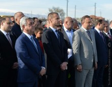 PRESIDENT SERZH SARGSYAN PARTICIPATED AT THE GROUNDBREAKING CEREMONY FOR THE FOOTBALL ACADEMY IN VAGHARSHAPAT