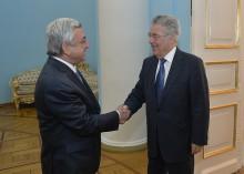 Նախագահ Սերժ Սարգսյանը ընդունել է Ավստրիայի նախկին նախագահ Հայնց Ֆիշերին