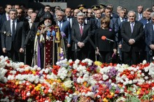 PRESIDENT SERZH SARGSYAN PAID TRIBUTE TO THE MEMORY OF THE VICTIMS OF THE ARMENIAN GENOCIDE AT THE TSITSERNAKABERD MEMORIAL
