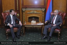 Galust Sahakyan Receives Newly Appointed Ambassador of Serbia to Armenia