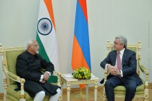 PRESIDENT SERZH SARGSYAN RECEIVED DELEGATION HEADED BY THE VICE- PRESIDENT OF INDIA MOHAMMAD HAMID ANSARI