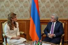 Նախագահ Սերժ Սարգսյանը ընդունել է Հորդանանի արքայադուստր Դինա Միրեդին