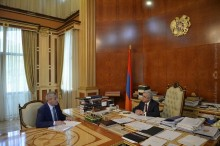 MINISTER VAHAN MARTIROSSIAN REPORTED TO THE PRESIDENT ON THE STRUCTURAL CHANGES AT THE MINISTRY AND ONGOING PROGRAMS