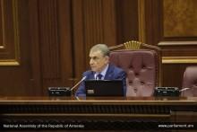 Продолжена работа первой сессии НС РА шестого созыва
