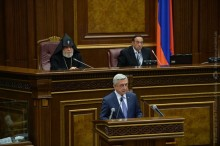 PRESIDENT SERZH SARGSYAN'S ADDRESS AT THE FIRST SESSION OF THE 6TH NATIONAL ASSEMBLY