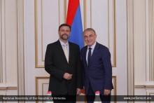 А.Баблоян принял посла Чехии в Армении