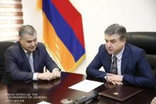 Премьер-министр представил аппарату Министерства юстиции новоназначенного министра Давида Арутюняна