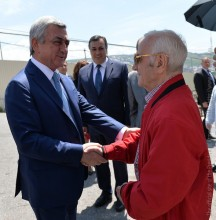 PRESIDENT SERZH SARGSYAN ATTENDS CHARLES AZNAVOUR HOUSE MUSEUM KEY HANDOVER CEREMONY