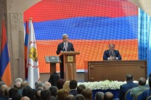PRESIDENT ATTENDS CEREMONY OF INAUGURATION OF YEREVAN MAYOR
