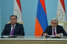 Նախագահի նստավայրում տեղի են ունեցել հայ-տաջիկական բարձր մակարդակի բանակցություններ