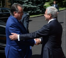 FAREWELL CEREMONY FOR PRESIDENT EMOMALI RAHMON OF THE REPUBLIC OF TAJIKISTAN HELD AT RA PRESIDENCY