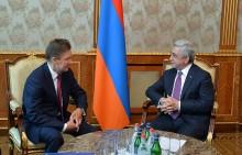 Նախագահ Սերժ Սարգսյանն ընդունել է «Գազպրոմ» ընկերության վարչության նախագահ Ալեքսեյ Միլլերին