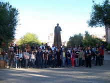 Young Republicans made a pilgrimage to Spitakavor, where the remains of Garegin Nzhdeh are buried