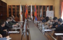 Members of the Youth Organization of United Russia Party met with political scientist Alexander Iskandaryan