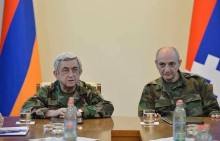 Serzh Sargsyan Congratulates President of Artsakh on Triple Holiday
