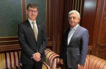 Third President of Armenia Serzh Sargsyan receives Ambassador Extraordinary and Plenipotentiary of the Kingdom of the Netherlands to the Republic of Armenia Nico Schermers
