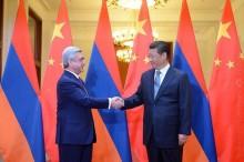 Սերժ Սարգսյանը շնորհավորական ուղերձ է հղել Չինաստանի նախագահին