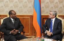 Նախագահ Սերժ Սարգսյանն ընդունել է ՀՄՄ գլխավոր քարտուղար Համադուն Թուրեին