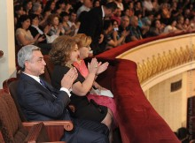Նախագահ Սերժ Սարգսյանը ներկա է գտնվել Հայաստանի պետական ջազ-նվագախմբի 75-ամյա հոբելյանին նվիրված տոնական համերգին